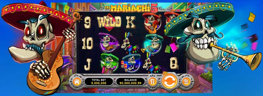 Get Free Spins for The Mariachi 5 in our casino today!